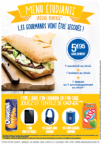 Promos et remises Pomme de Pain : Offre du moment : le menu étudiant à 5,95€ seulement !