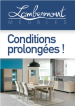 Prospectus Meubles Lambermont  : Conditions prolongées