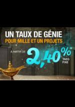 Catalogues et collections Banque Casino : 1 taux de génie pour mille et un projet à partir de 2,40%