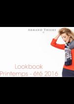 Catalogues et collections Armand Thiery Femme : Lookbook printemps été 2016