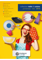 Promos et remises  : Collection table & cuisine printemps été 2016