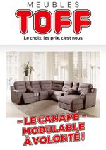 Prospectus Meubles Toff : Le canapé modulable à volonté !