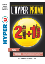 Prospectus Hyper U : 2 achetés + 1 gratuit