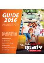 Guides et conseils Roady : Guide 2016 printemps été