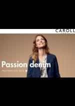 Catalogues et collections Caroll : Lookbook Passion denim Printemps-Été 2016