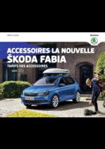 Catalogues et collections Skoda : Le tarif des accessoires Skoda Fabia