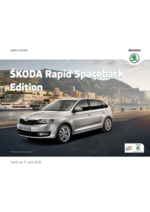 Catalogues et collections Skoda : Skoda Rapid Spaceback edition