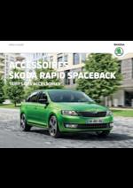 Catalogues et collections Skoda : Le tarif des accessoires Rapid Spaceback
