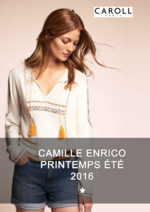 Catalogues et collections Caroll : Lookbook Camille Enrico Printemps été 2016
