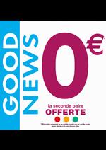 Promos et remises  : GOOD NEWS : 0€ la seconde paire !