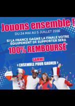 Promos et remises Gifi : 100% Remboursé si la France gagne l'Euro 2016