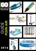 Guides et conseils Go Sport : Guide plein air 2016