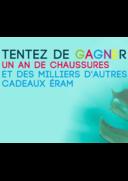 Jeux concours Eram PARIS 12 RUE DE RIVOLI : Grattez c'est gagné... Un an de chaussures !