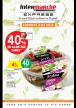 Prospectus Intermarché Express : Jusqu'à 40% en avantage carte