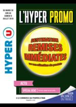 Prospectus Hyper U : Destination remises immédiates sur une sélection de produits