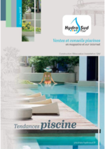 Catalogues et collections Hydrosud : Le catalogue Tendances piscine