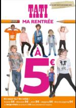 Prospectus Tati : Ma rentrée à 5€