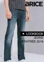 Catalogues et collections Brice : Lookbook jeans rentrée 2016