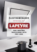 Catalogues et collections Lapeyre : Catalogue Electroménager 2016-2017