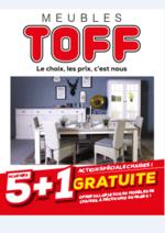 Prospectus Meubles Toff : Spéciale chaises : 5 achetées 1 offerte