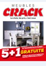 Prospectus Meubles Crack : Spéciale chaises : 5 achetées 1 offerte