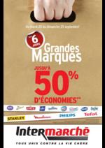Prospectus Intermarché Super : Les 6 jours grandes marques jusqu'à 50% d'économies