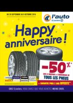 Prospectus L'auto E.Leclerc : Happy anniversaire !