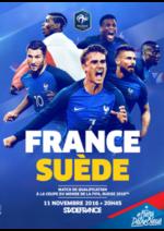Bons Plans Carrefour Spectacles : France-Suède : jusqu'à -7€ avec votre carte Carrefour