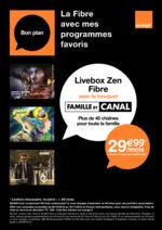 Prospectus Orange : La fibre avec mes programmes favoris