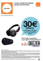 Promos et remises  : Profitez du plus grand catalogue de musique digitale: DEEZER