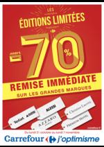 Prospectus Carrefour : Les éditions limitées jusqu'à -70% remise immédiate sur les grandes marques