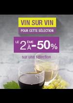 Promos et remises  : Vin sur vin le 2ème à -50%