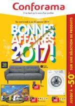Prospectus Conforama : Bonnes affaires 2017