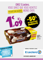 Prospectus E.Leclerc : Chez E.Leclerc vous savez que vous achetez tout de suite moins cher !