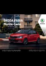 Tarifs Skoda : La Skoda Fabia monte carlo