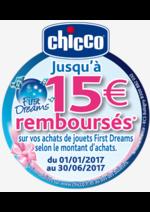 Promos et remises  : Jusqu'à 15€ remboursés - jouets Chicco First Dreams