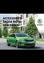Tarifs Skoda : Le tarif des accessoires Rapid Spaceback