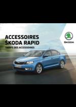 Tarifs Skoda : Tarifs des accessoires Skoda Rapid