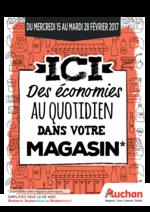 Prospectus Auchan : Ici des économies au quotidien dans votre magasin