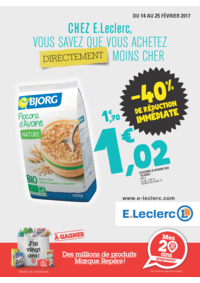 Prospectus E.Leclerc ERSTEIN : -40% de réduction immédiate