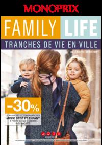 Prospectus Monoprix PARIS 95 bd Sébastopol : Family life
