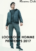Catalogues et collections Massimo Dutti : Lookbook homme printemps 2017