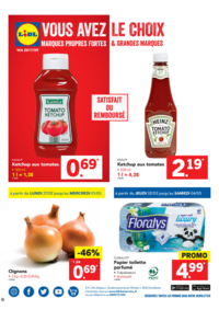 Prospectus Lidl SCHAERBEEK / SCHAARBEEK : Vous avez le choix ! Marques propres et grandes marques