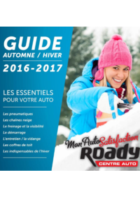 Guides et conseils Roady Avrille : Guide automne hiver 2016-2017