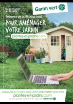 Prospectus Gamm vert nature : Trouvez ce qu'il faut pour aménager votre jardin
