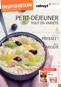 Prospectus Colruyt ANDERLECHT - VEEWEYDE : Petit-déjeuner tout en variété