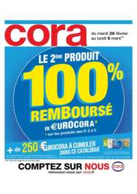 Prospectus Cora ERMONT : Le 2ème produit 100% remboursé en €urocora