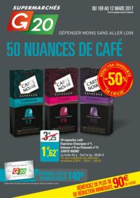 Prospectus G20 PARIS 1 Louvre : 50 nuances de café