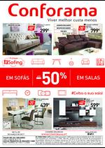 Folhetos Conforama : Especial Sofás e Salas até -50%