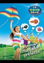Catalogues et collections La grande Récré : Le Printemps ! Ma saison préférée !